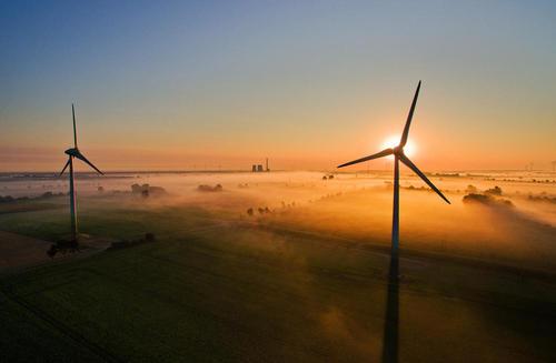 توربین های بادی در هانوفر آلمان