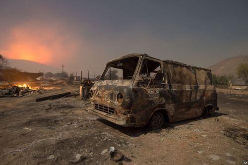 صدمات آتش سوزی موسمی در کالیفرنیا آمریکا