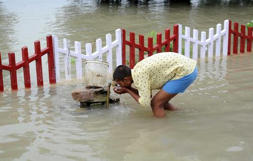 سیل در الله آباد هند