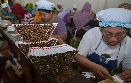 کارخانه تولید سیگار در شهر مالانگ در جاوه شرقی اندونزی