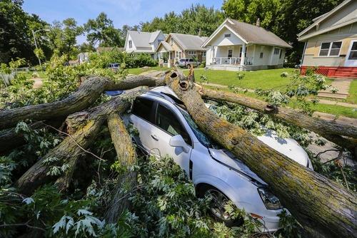 توفان در ایالت نبراسکا آمریکا