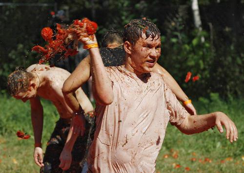 جشنواره گوجه در شهر کی یف اوکراین
