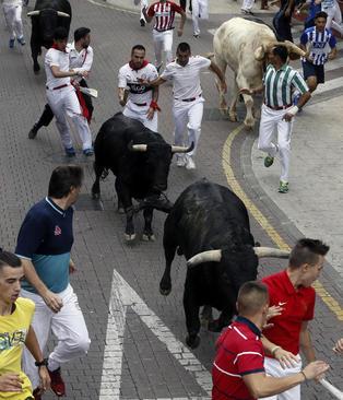 گاو بازی در جشنواره سنتی سن سباستین اسپانیا – مادرید