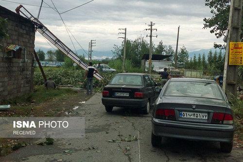 عکس های طوفان در قائمشهر مازندران