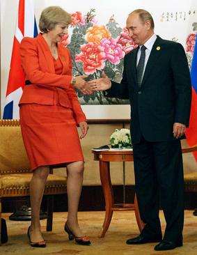 دیدار رییس جمهور روسیه با نخست وزیر بریتانیا در حاشیه نشست جی بیست در هانگژو چین