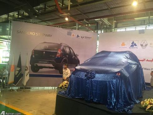 رونمایی از خط تولید رنو ساندروی استپ وی  در پارس خودرو