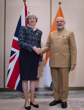 دیدار نخست وزیران هند و بریتانیا در حاشیه نشست رهبران گروه بیست در هانگژو چین