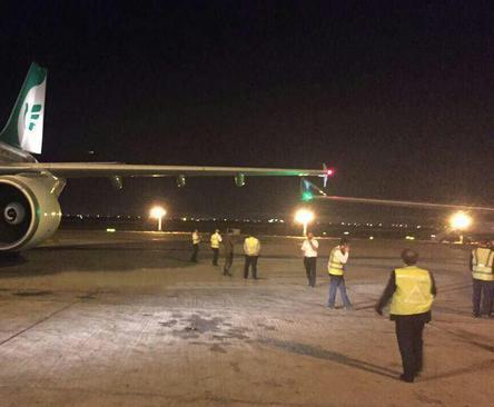 هواپیماهای شرکت هواپیمایی ماهان ایر و عمان ایر در فرودگاه امام خمینی (ره) با یکدیگر برخورد کردند.