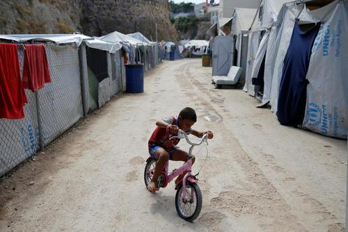 اردوگاه پناهجویان در جزیره چیوس یونان