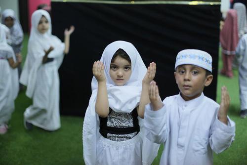 جشن عید قربان در مدرسه ای در غزه