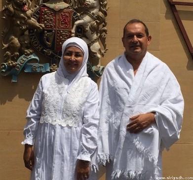 سفیر بریتانیا در ریاض و همسرش در مراسم حج