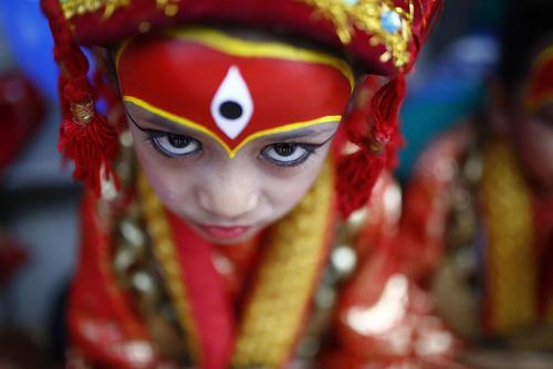 یک جشنواره آیینی در کاتماندو نپال