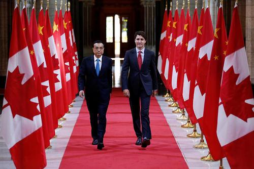 استقبال نخست وزیر کانادا ار همتای چینی – اوتاوا