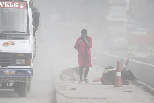توفان شن در کاتماندو نپال