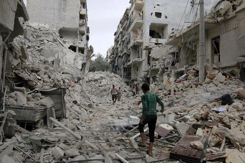 از سرگیری حملات هوایی به شهر حلب سوریه