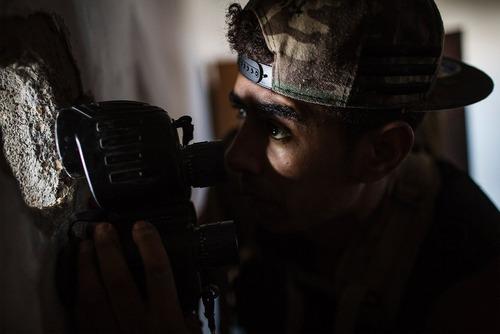 نیروهای دولت قانونی لیبی در حال مبارزه با شبه نظامیان داعش در حومه شهر سرت