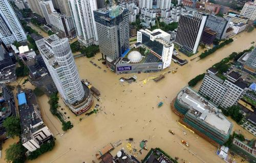 منطقه فوجیان چین و سیل و سیلاب به دلیل باران - خبرگزاری فرانسه