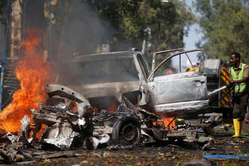 بمبگذاری انتحاری در نزدیکی کاخ ریاست جمهوری در شهر موگادیشو سومالی