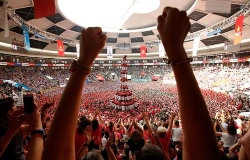 رقابت های دو سالانه تشکیل هرم انسانی در تاراگونا اسپانیا