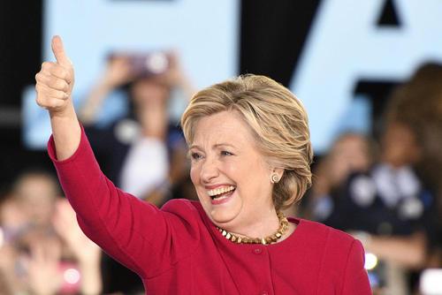سخنرانی هیلاری کلینتون نامزد دموکرات انتخابات ریاست جمهوری آمریکا در شهر هاور فورد ایالت پنسیلوانیا