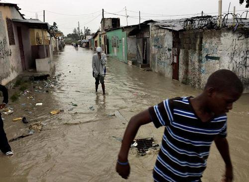 توفان متیو در شهر پورتوپرنس هاییتی