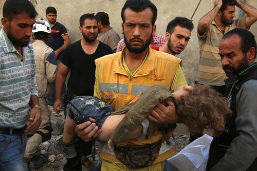 ادامه حملات هوایی به شهر حلب سوریه