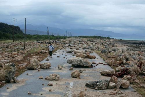 آثار توفان متیو در جزیره گوانتانامو
