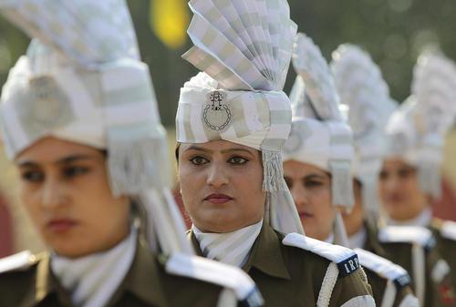 رژه پلیس در سرینگر کشمیر