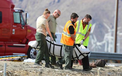 تصادف شدید و مرگبار یک اتوبوس مسافربری در ایالت کالیفرنیا آمریکا