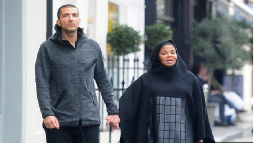 ژانت جکسون خواهر مایکل جکسون به همراه همسر میلیاردر قطری اش در خیابان های لندن/ اولین عکس ها از ژانت جکسون با حجاب اسلامی