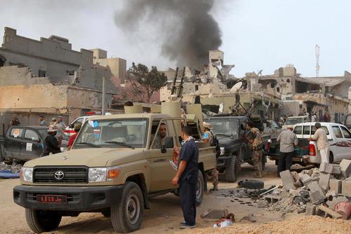 نبرد نیروهای دولتی لیبی با داعش در شهر سرت