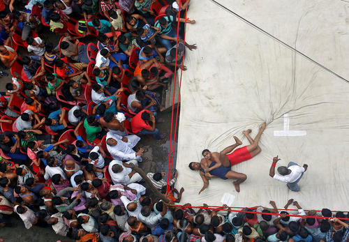 مسابقات کشتی در کلکلته هند