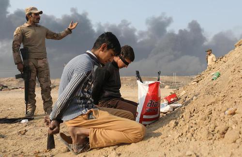 دستگیری مظنونان عضویت در داعش در جنوب موصل