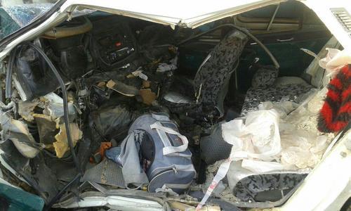5 کشته و 15 زخمی در تصادف زنجیره ای در بوکان+تصاویر