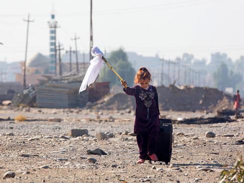 فرار از دست داعش در حومه شهر موصل عراق