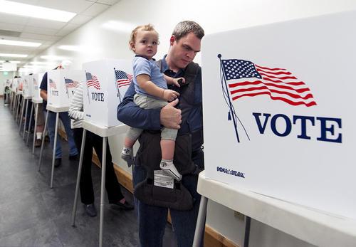 انتخابات ریاست جمهوری پیش از موعد آمریکا در شهر نورواک ایالت کالیفرنیا