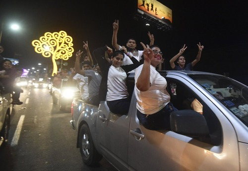 حامیان دانیل اورتگا رییس جمهور نیکاراگوئه در خیابان های پایتخت