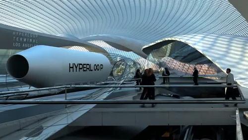 طرح مفهومی از ایستگاه های هایپرلوپ