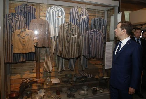 بازدید دمیتری مدودف نخست وزیر روسیه از موزه هولوکاست در شهر قدس