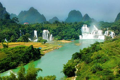 آبشار دتیان ویتنام، 197 پا