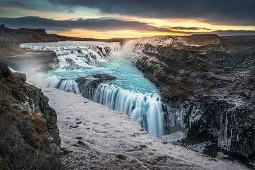 آبشار گولفوس، ایسلند،105 پا
