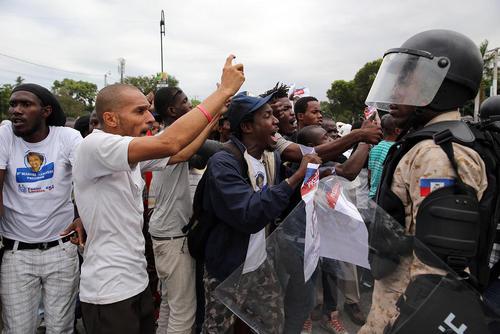 ناآرامی های انتخابات ریاست جمهوری هاییتی در شهر پورتو پرنس (پایتخت)