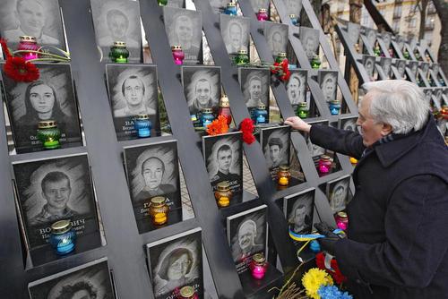 سومین سالگرد اعتراضات سراسری در اوکراین و خلع یانوکویچ از قدرت- کی یف